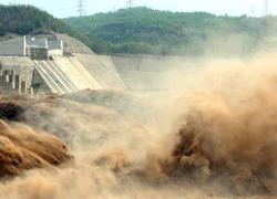 Đập nước lớn thứ hai Trung Quốc xả lũ