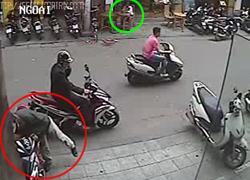Những chiêu đi 2 người dàn cảnh trộm xe máy
