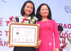 Nữ sinh đoạt giải nhất viết thư UPU từng ghét học văn