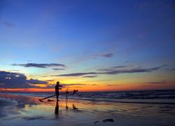 Bình minh trên biển Quất Lâm, Nam Định