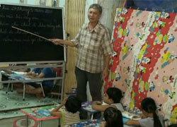 Thuê nhà dạy học miễn phí cho 60 trẻ em nghèo