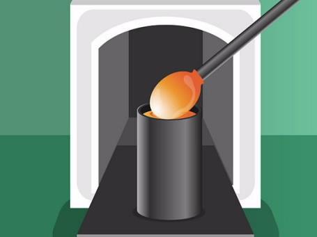 Tạo hình cho thủy tinh nóng chảy.Tạo hình thủy tinh bằng các cách sau: - Rót thủy tinh nóng chảy vào khuôn và để nguội. Đây là phương pháp của người Ai Cập, và là cách chế tạo thấu kính ngày nay. - Thủy tinh nóng chảy được dồn vào một đầu của ống rỗng, sau đó vừa xoay ống vừa thổi hơi vào ống. Thủy tinh được tạo hình bởi không khí được thổi vào trong ống, trọng lực kéo thủy tinh nóng chảy ở đầu ống xuống vào giúp tạo hình. - Thủy tinh nóng chảy được rót vào bình chứa thiếc tan chảy để tạo thành giá đỡ và thổi thủy tinh bằng khí ni tơ nén để tạo hình và đánh bóng. Thủy tinh chế tạo theo phương pháp này gọi là thủy tinh đánh bóng. Đó là cách chế tạo các tấm kính từ những năm 1950.