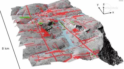 Bản đồ địa hình thành phố mới được lập bằng công nghệ quét LiDAR. (Ảnh : reisen.wanhoff.de)