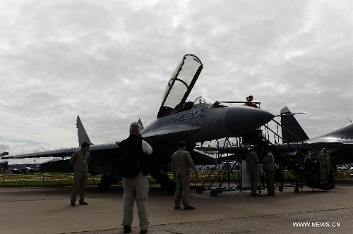 Chiến đấu cơ phản lực đa năng MiG-35 thế hệ 4++ của Nga tại triển lãm