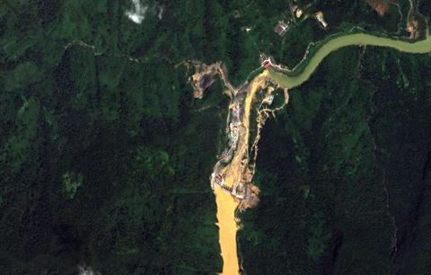 Thủy điện Sông Bung 2, tỉnh Quảng Nam, ngày 09/8/2013