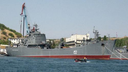Tàu đổ bộ cỡ lớnNikolai Filchenkov của Nga. Ảnh:Presstv