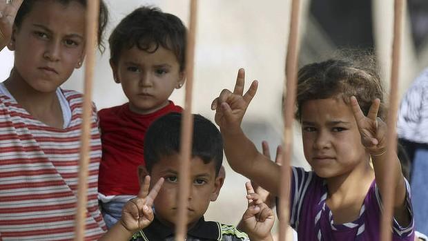 Hơn hai triệu trẻ em ở Syria đang đối mặt với nguy cơ bị suy dinh dưỡng. Ảnh: SMH