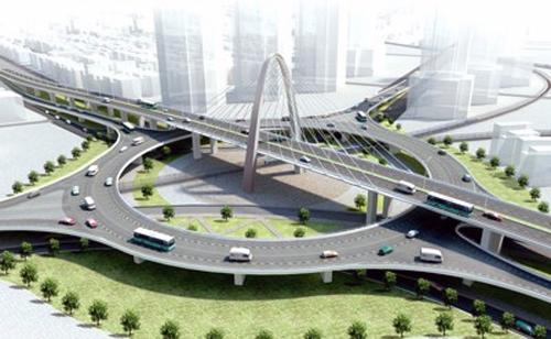 Khởi công cầu vượt 3 tầng ở Đà Nẵng - VnExpress