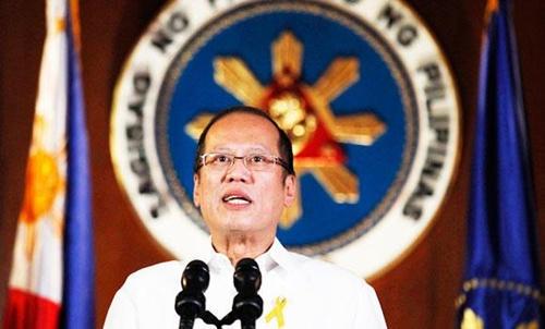 Tổng thống Philippines Benigno Aquino hôm qua lên truyền hình quốc gia phát biểu. Ảnh: AP