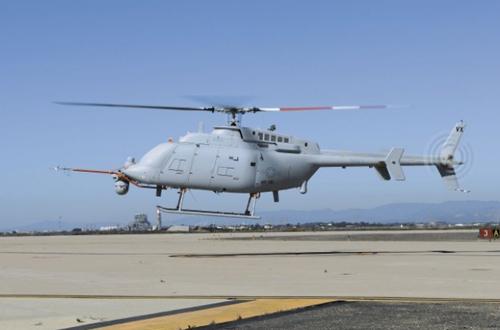 Trực thăng không người lái MQ-8C tại khu vực thử nghiệm ở căn cứ hải quân hạt Ventura hôm 31/10. Ảnh: US Navy.