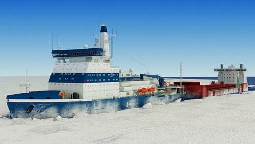 Hình ảnh mô tả tàu phá băng LK-60. (Nguồn: Rosatomflot)