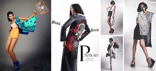 Tác phẩm của đồ án chuyên ngành thiết kế thời trang.