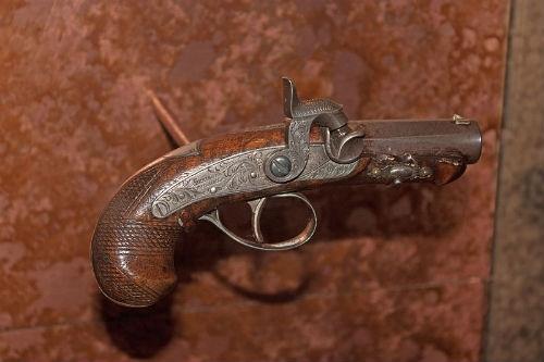 Khẩu súng lục được Booth sử dụng để ám sát tổng thống Lincoln được trưng bày