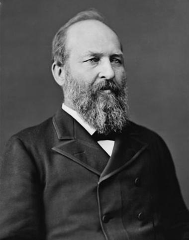 James A. Garfield, tổng thống thứ 20 của Mỹ. Ảnh: Wikipedia.