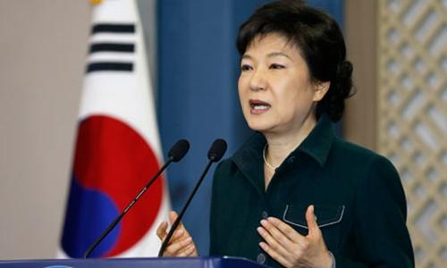 Tổng thống Hàn Quốc Park Geun-Hye. Ảnh: AP.