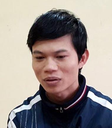 Nguyễn Hữu Chính tại cơ quan công an. Ảnh: Sơn Dương