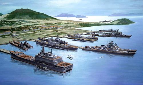 Cuối năm 1978, nhóm sĩ quan đại diện cho các tổng cục của Bộ Tư lệnh Hải quân và của Hạm đội Thái Bình Dương đáp máy bay sang Việt Nam để ngày 30/12 đã thỏa thuận xong và ký biên bản ghi nhớ làm cơ sở đàm phán xây dựng và cùng khai thác Trạm cung ứng vật tư kỹ thuật.