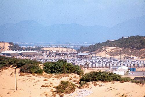 Cam Ranh Bay military installation ca. 1969.
