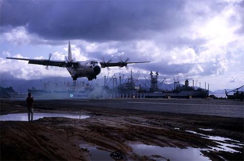 C-130B Landing At 36 Runway - Photo by Dunlin 1966