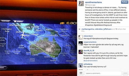 Một hành khách than phiền trên Instagram về loạt sự cố trên chuyếnEY461. Ảnh: Instagram