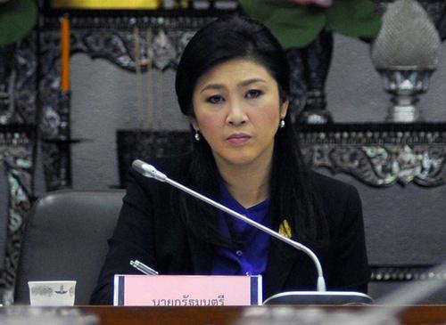 [Caption]Thủ tướng Thái Lan Yingluck Shinawatra trong cuộc họp hôm 15/1 tại Bangkok. Ảnh: AFPuyên bố cuộc bầu cử dự kiến diễn ra trong chưa đầy ba tuần tới sẽ không bị trì hoãn, bất chấp áp lực mạnh từ phe đối lập.
