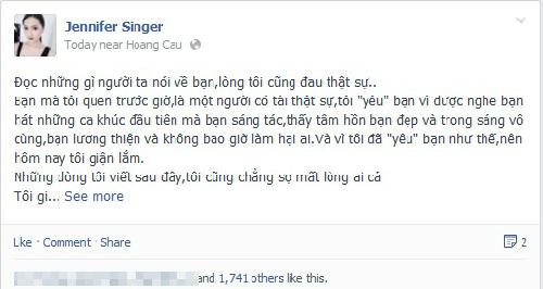 Ca sĩ Hương Giang Idol giận vì Hồng Phước không chịu nhận lỗi. Ảnh: Facebook