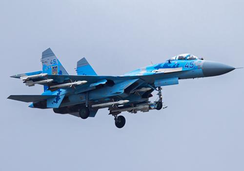 Chiến đấu cơ Sukhoi SU-27 của không quân Ukraine. Ảnh:theaviationis