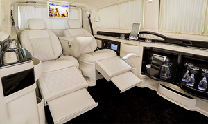 Độ xế Mercedes nội thất siêu tiện nghi
