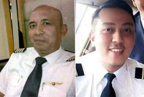 Cơ trưởng Zaharie Ahmad Shah, 53 tuổi vàphi côngphụ Fariq Abdul Hamid, 27 tuổi, của máybay Malaysia bị mất tích. Ảnh: NST