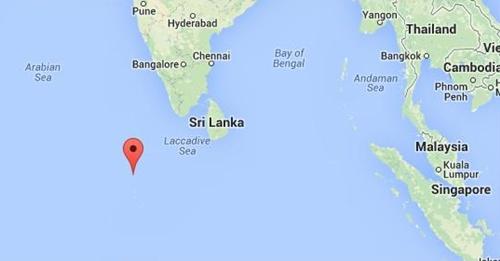 Vị trí đảo Kuda Huvadhoo. Đồ họa: Googlemap