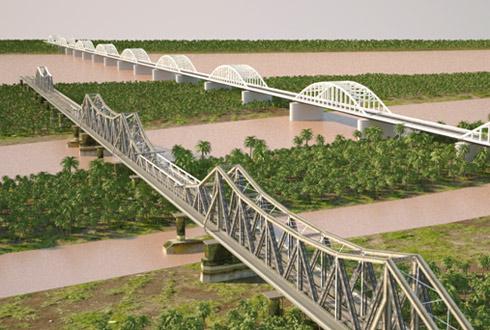 [Dự án đường sắt đô thị chưa thống nhất  được phương án thiết kế kỹ thuật qua Sông Hồng. Đơn vị tư vấn của Nhật vẫn mới chỉ dừng lại ở việc TKTV