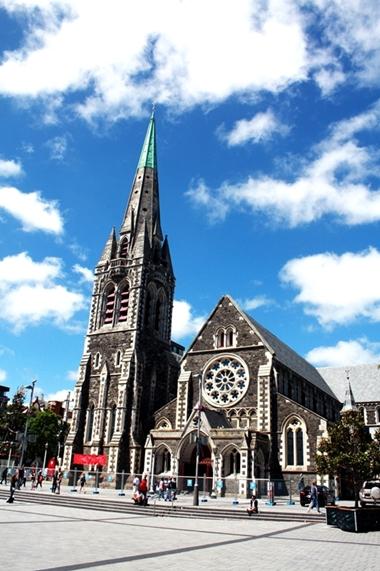 Nhà thờ trung tâm ở Christchurch.