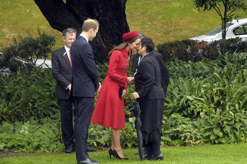 Sau khi rời sân bay Wellington, cặp vợ chồng hoàng gia Anh