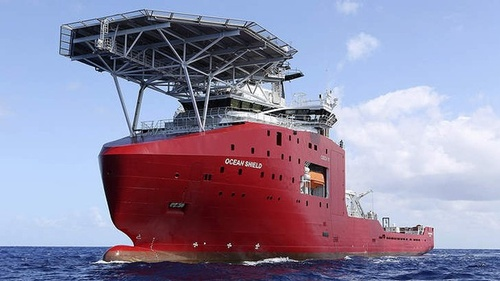 The Australian vessel Ocean Shield is towing a pinger locator to try to locate the black box from MH370. Photo: AP   Read more: http://www.smh.com.au/national/missing-malaysia-airlines-plane-angus-houston-reveals-most-promising-lead-20140407-368gm.html#ixzz2yAwUiDhy