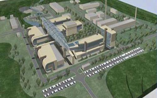 Mô hình Trung tâm khoa học và công nghệ hạt nhân.