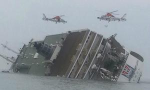 Phà chở hơn 300 học sinh chìm ngoài khơi Hàn Quốc