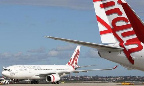 Phi cơ của Virgin Australia Airlines hạ cánh ở sân bay Denpasar