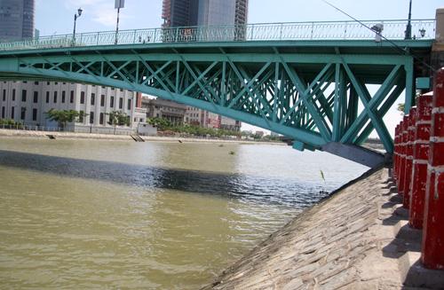 Kên Bến Nghé, khu vực cầu Mống là gần khúc giao với sông Sài Gòn nên nước ngầm cuốn mạnh. Ảnh: Châu Thành