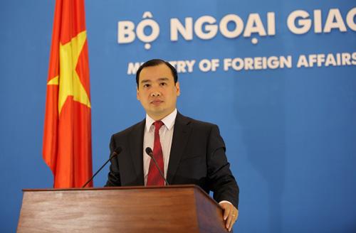 [Caption]Người phát ngôn Bộ Ngoại giao Việt Nam Lê Hải Bình. (Nguồn: Bộ Ngoại giao)