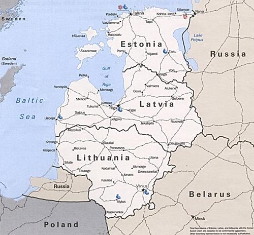 Các quốc gia vùng Baltic như Latvia, Litva, Ba Lan điều động binh sĩ tới tham gia tập trận chung của NATO ở Estonia. Đồ họa:tunnelwall.blogspot.com.