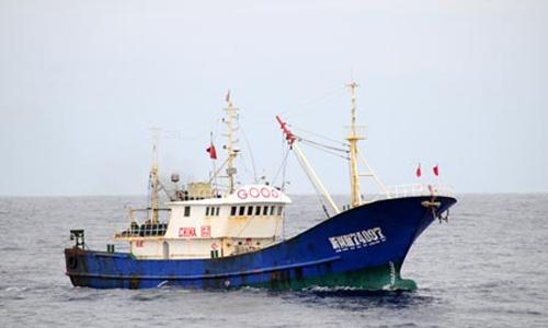 Một tàu cá của Trung Quốc. Ảnh minh họa: Xinhua.