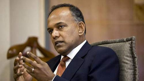 Ngoại trưởng Singapore K. Shanmugam. Ảnh: Straitstimes