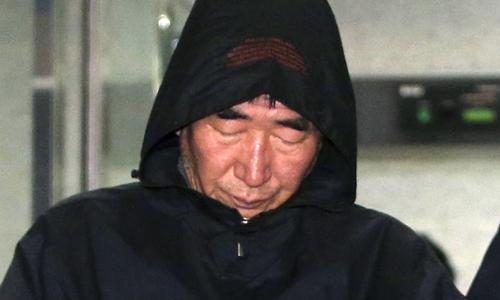 Thuyền trưởng Lee Joon-seok bị truy tố tội ngộ sát vì bỏ mặc hành khách trên con phà chìm. Ảnh: Reuters.