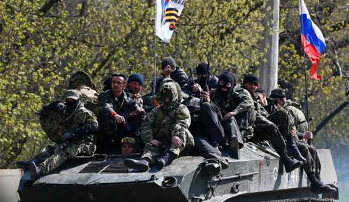 Slaviansk, Ukraine, April 16, 2014.