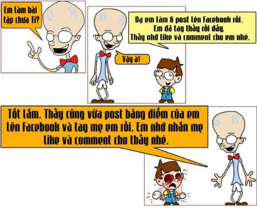 Thầy trò thời facebook.