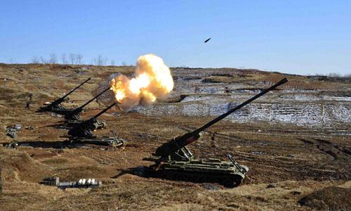 Triều Tiên nã pháo sát tàu Hàn Quốc.Ảnh minh họa: Reuters/KCNA.