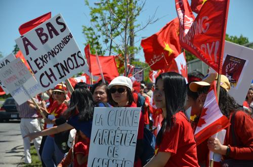 Người Việt biểu tình tại Ottawa. Ảnh:Đỗ Ngọc Toản