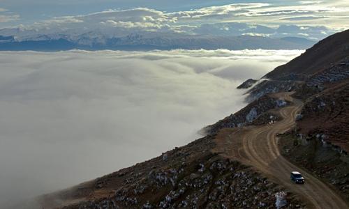 Một đoạn đường núi ở cộng hòa Dagestan. Ảnh: Itar-tass.