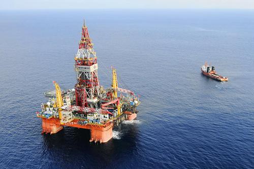 Giàn khoan Hải Dương-981 của Trung Quốc. Ảnh: AP