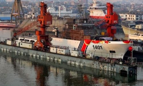 1401 tại xưởng đóng thuyền ở Quảng Châu, Quảng Đông, hồi tháng một. Ảnh: China-defense
